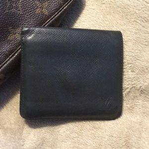 LV black Taiga leather men's wallet